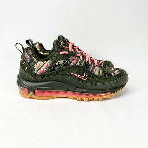 NIKE Women's Air Max 98 Floral Sequoia Green/Pink